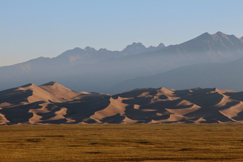 Great Sand Dunes and Sangre de Cristo Mountains.