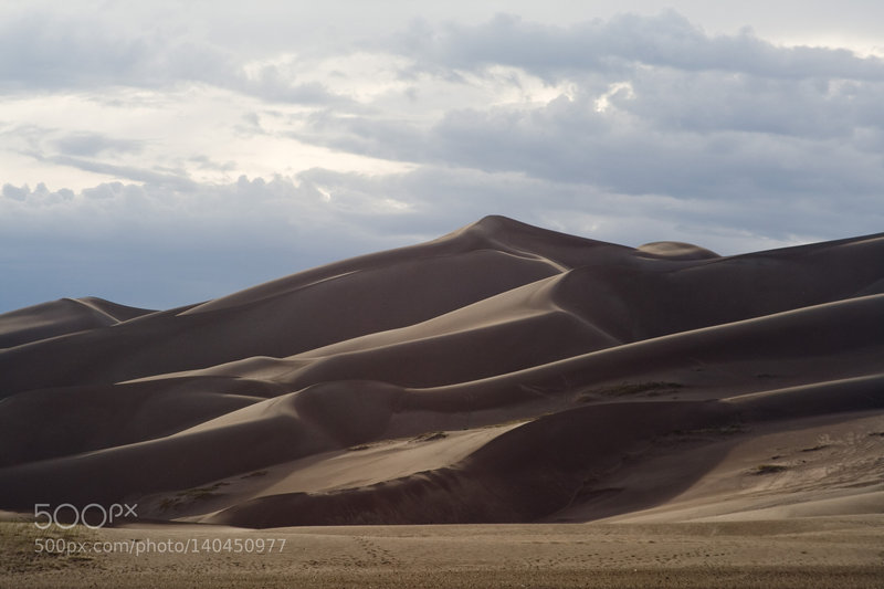 The dunes are scenic even on cloudy days.