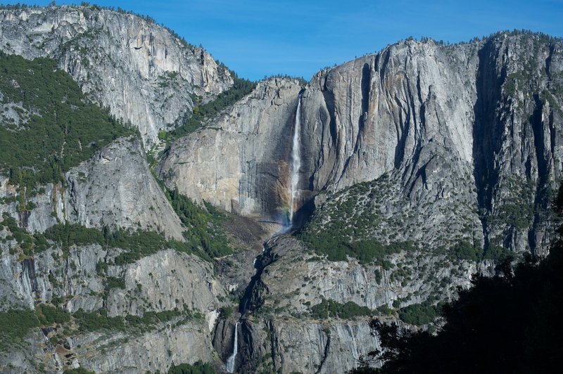 Great views of Upper and Lower Yosemite Falls.