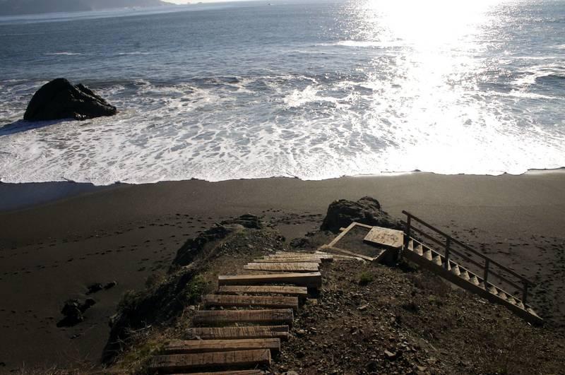 Black Sands Beach.