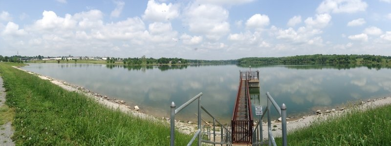 View from the dam at the south end of Freeman Lake.