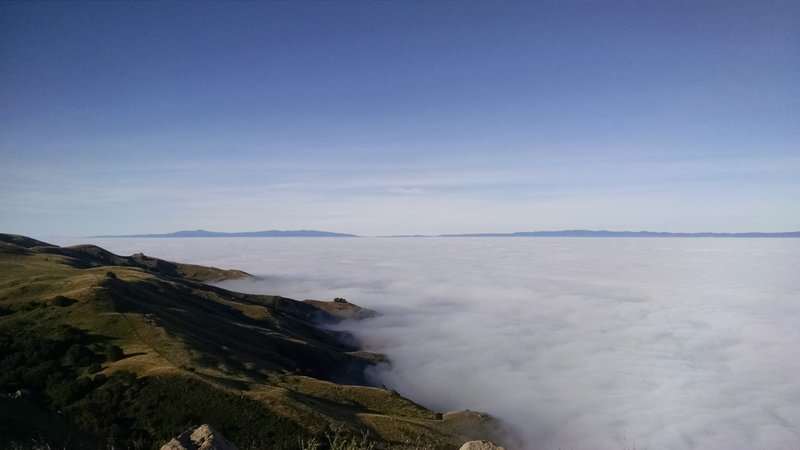 A sea of clouds from Mission Peak.