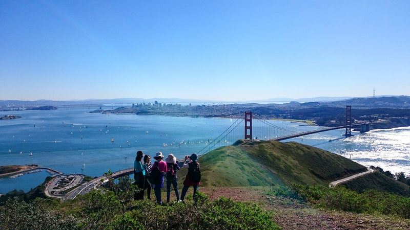 A beautiful day to enjoy the view from Slacker Ridge Trail.