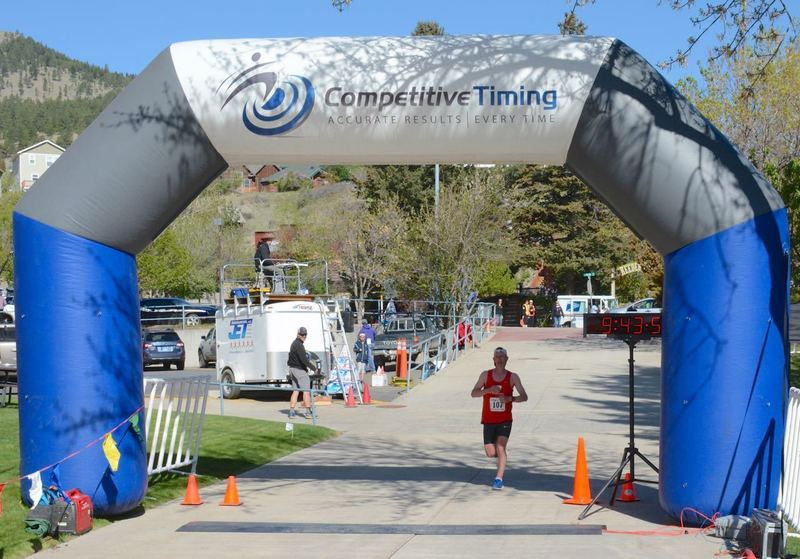 The 30K finish with Mt. Helena visible to the upper left.