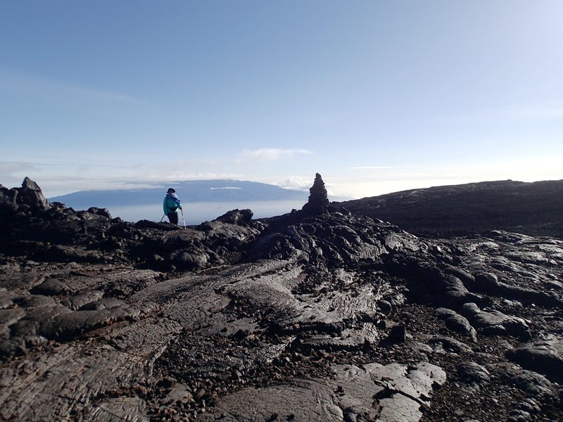 Last views of Mauna Kea - clouds are coming. with permission from Andrew Stehlik