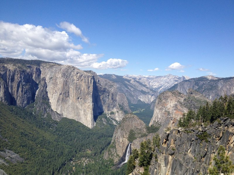 Looking back up Yosemite Valley from Stanford Point.