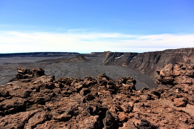 Mauna Loa summit caldera - looking west. with permission from Andrew Stehlik