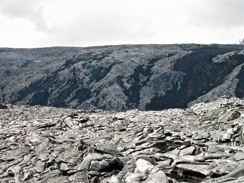 Impressive lava hillsides.
