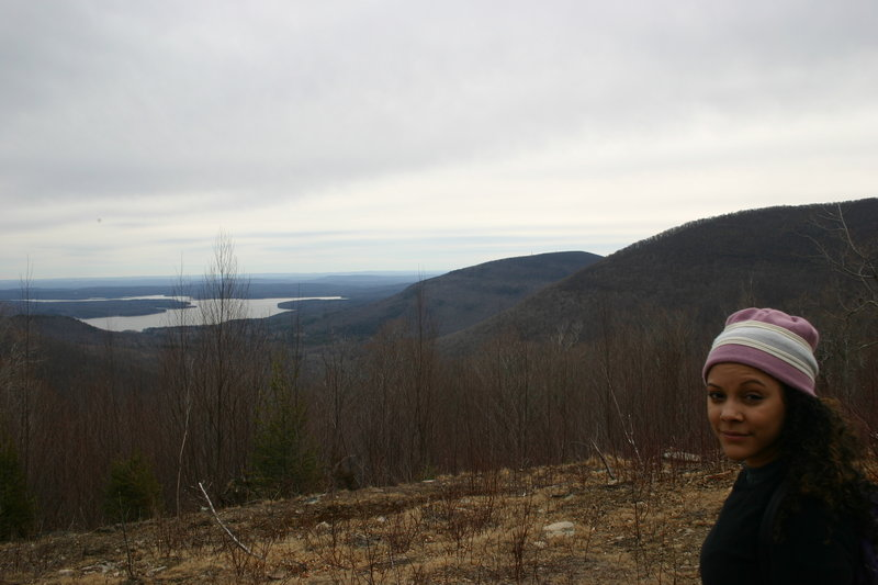 View of the Ashokan Reservoir from the log cabin on the ascent up Friday. Amazing views!