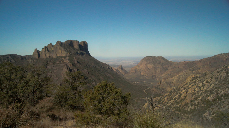 View of Chisos Basin from the Lost Mine Trail, Big Bend NP.