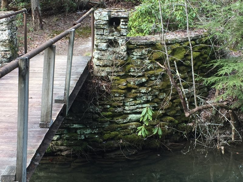 Creek crossing on the Lake View Trail.  The CCC did a lot of the work on this park during the Great Depression.
