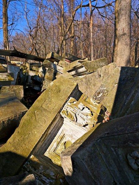 Capitol stones in Rock Creek Park.