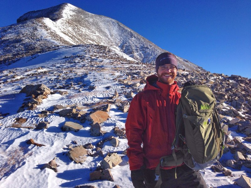 Heading to the summit of Wheeler Peak with the REI National Parks Centennial pack.