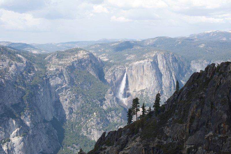 Yosemite Falls from Taft Point.