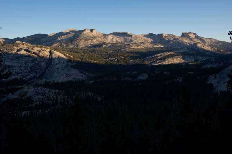 If you head out early, you can catch a glimpse of the sun rising across the granite peaks of Yosemite's High Country.