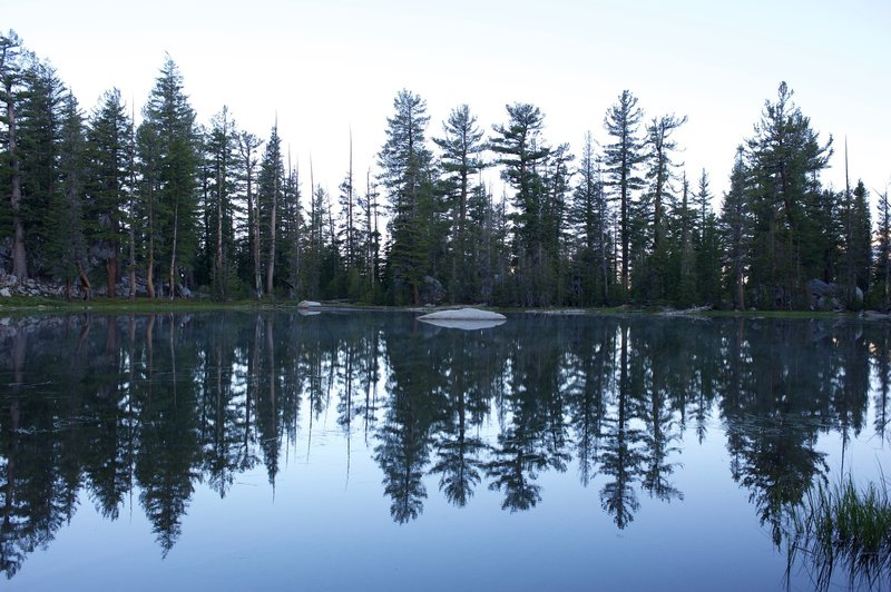 The quiet lake as you make your way to Clouds Rest.