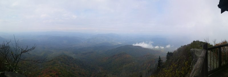 Panoramic view from the fire lookout tower atop Mt. Cammerer.