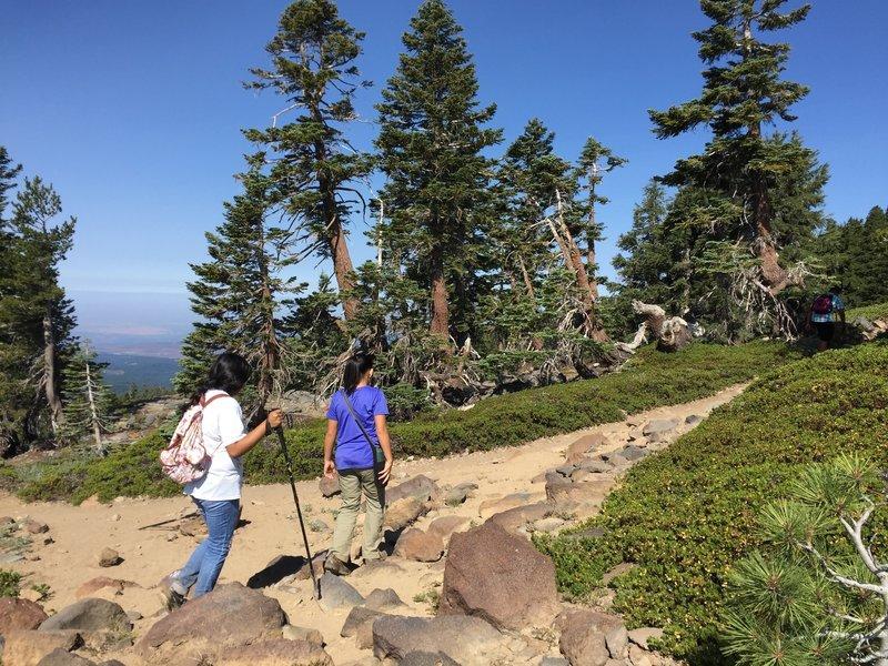 Hiking to Brokeoff Mountain.