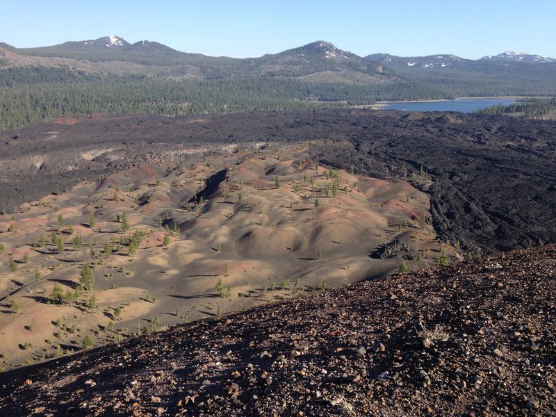 Painted Dunes and lava flows.