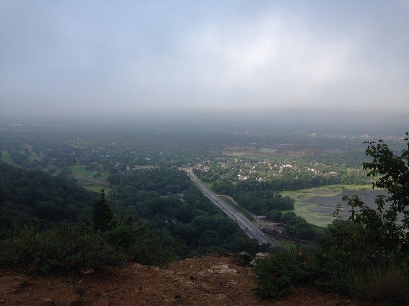 Outlook on Miller Bluff of La Crosse.