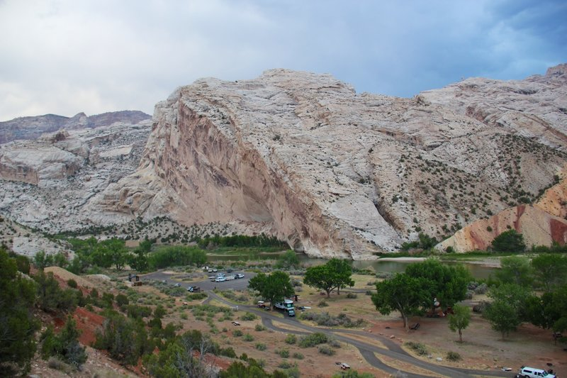 Split Mountain campground.