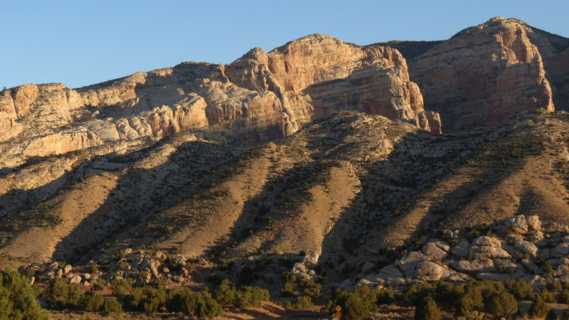 Cliffs surrounding Split Mountain uplift, Dinosaur National Monument, Utah. with permission from phil h