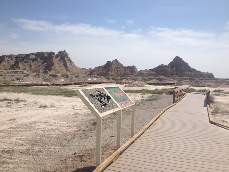 An example of one of the exhibits on Fossil Exhibit Trail.