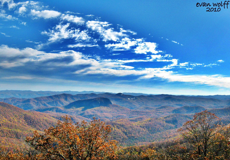 View from the Mt. Mitchell summit.