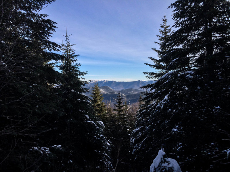View from the Beaver Brook Shelter of the Franconia Ridge.