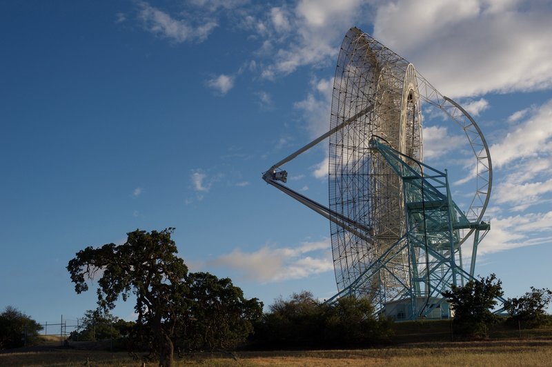 The Dish is still operational today. This picture was taken before it was repositioned that day.