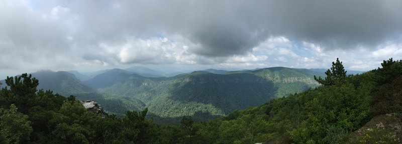 Panoramic from the top of Hawksbill Mtn.
