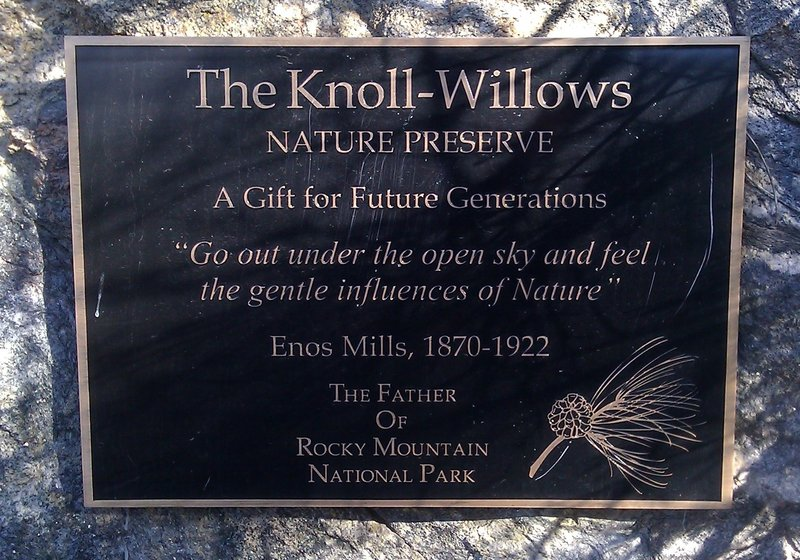 Plaque at the start of the trail.