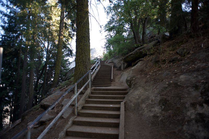 The trail leading up to Moro Rock is primarily stairs, so get ready to climb.