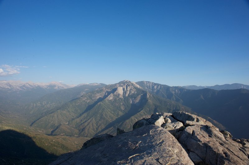 Looking toward Castle Rocks, Paradise Peak, and Sawtooth Peak from the end of the trail.