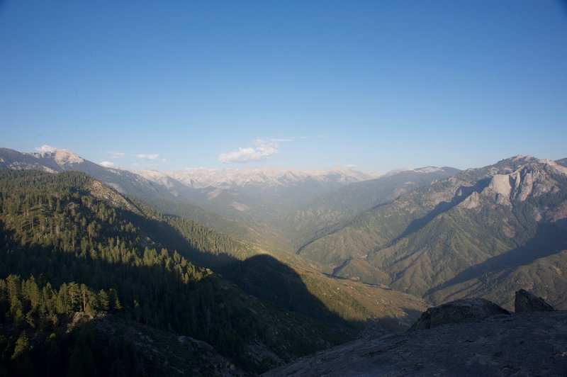 The Great Western Divide from the top of Moro Rock  The