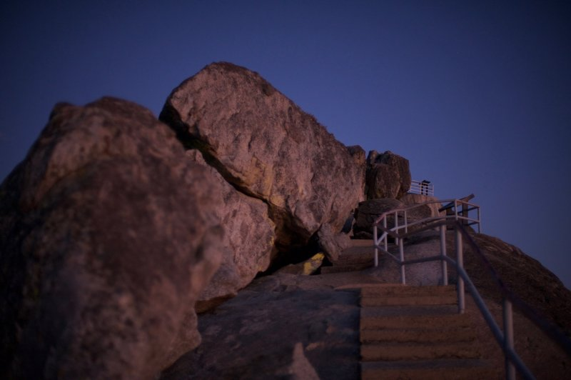 The trail is great at night for star gazing. If there is a full moon, the steps are easy to ascend.