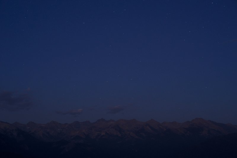 Watching the stars come out at night on top of Moro Rock is great. Looking toward the Western Divide, there is little light pollution and the mountains spread before you, especially if the moon is out.