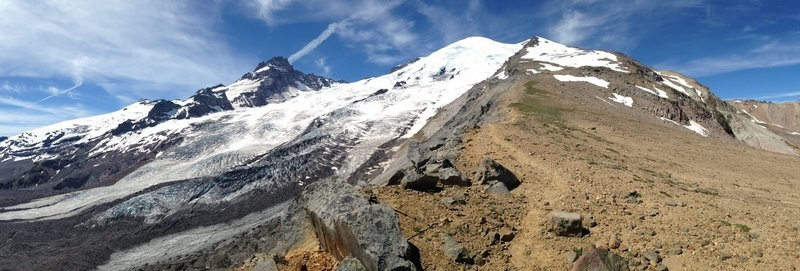East side of Mount Rainier NP, heading up to Mount Ruth between Emmons Glacier and Camp Sherman.