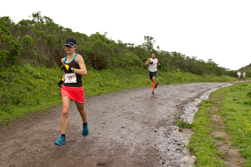 Flying down the Miwok Trail duing the Marin Ultra Challenge 25k.