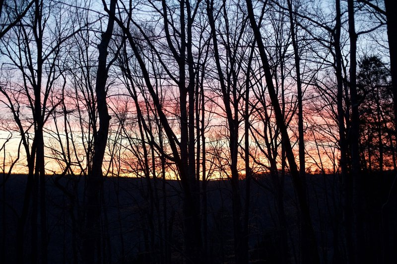Sunset in the winter at Mammoth Cave National Park.