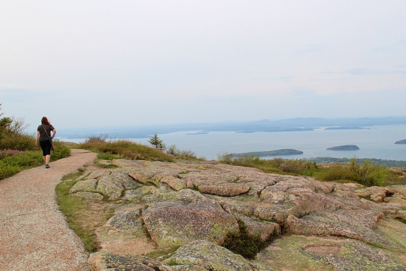 Paved trail around Cadillac Mountain.