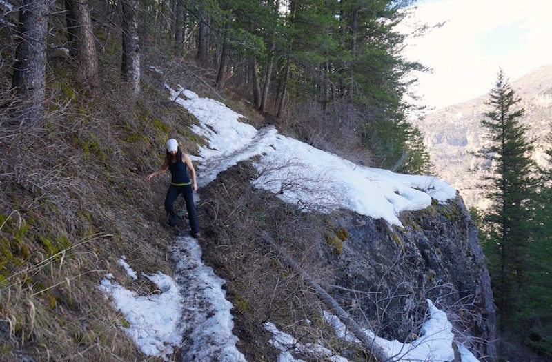 Lots of cliffs. Careful with the ice.