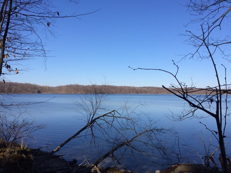 Overlooking Eagle Creek Reservoir from the Red Trail.