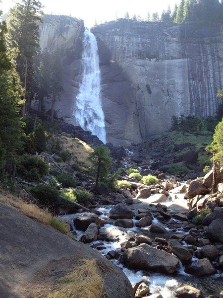 Nevada Falls from below.
