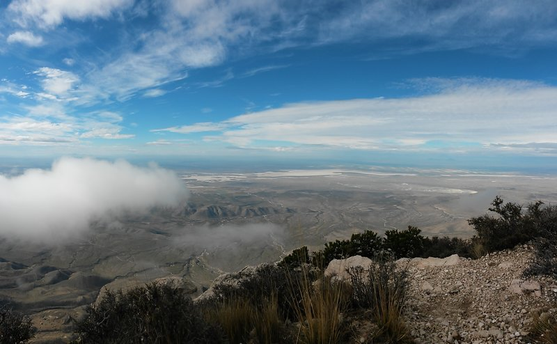 Panorama from the summit of Guadalupe Peak. Best place I've ever had Thanksgiving dinner!