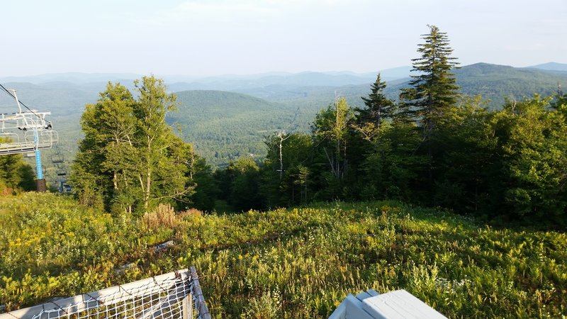 View towards Rumford from the top of the Black Mountain Ski Area.