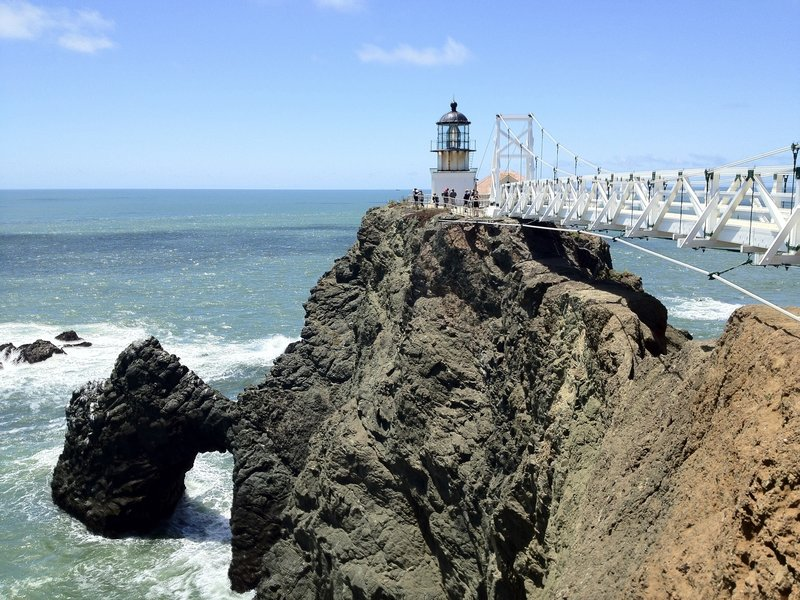 The view of the Point Bonita Lighthouse.