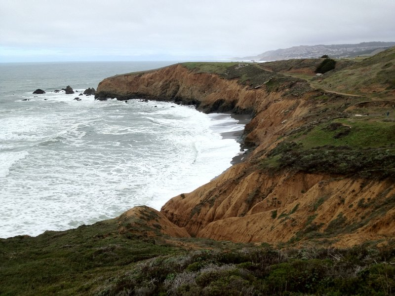 Even on a cloudy day, Mori Point impresses.