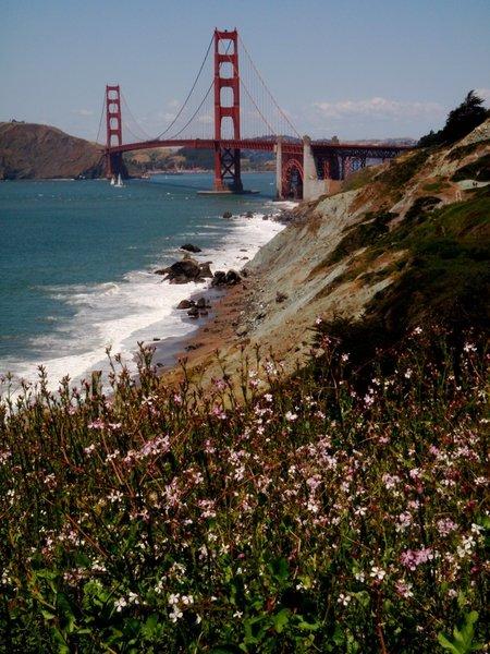 The Golden Gate Bridge as seen from Baker Beach!