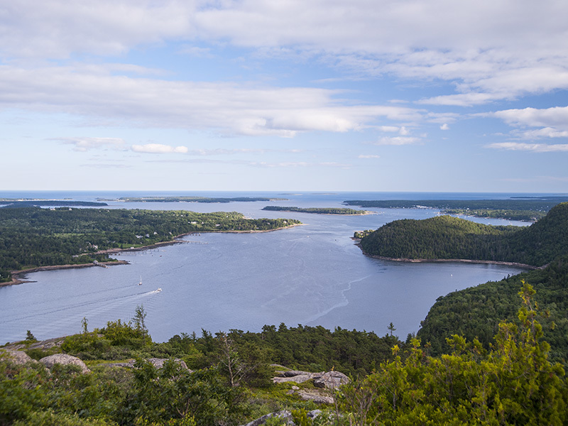 View from Acadia Mountain.